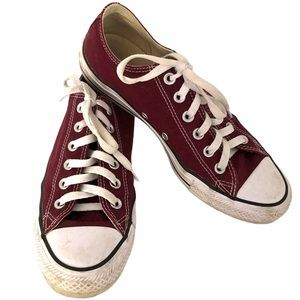 CONVERSE ALL STAR sneakers wine burgundy size 8